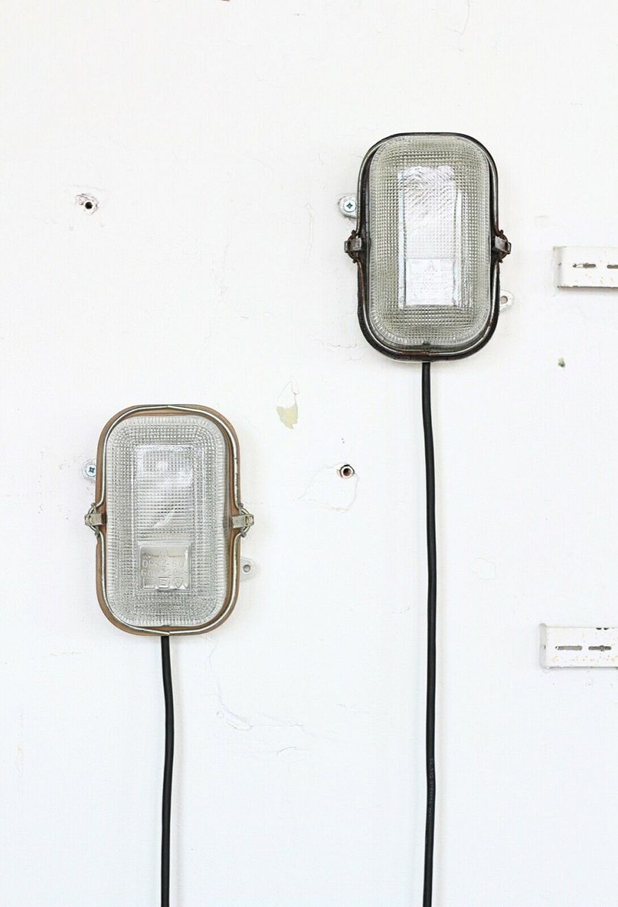 Pair of Small Porcelain Wall Lamp